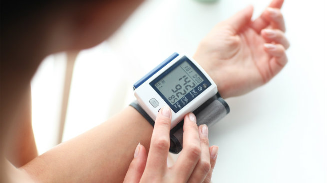 on track with blood pressure Omron