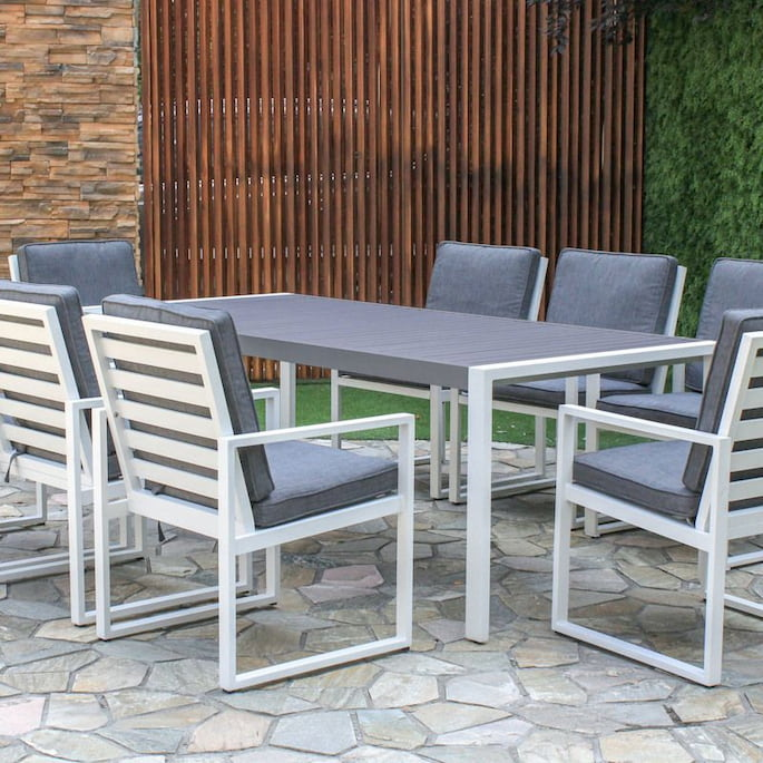 aluminium outdoor dining setting