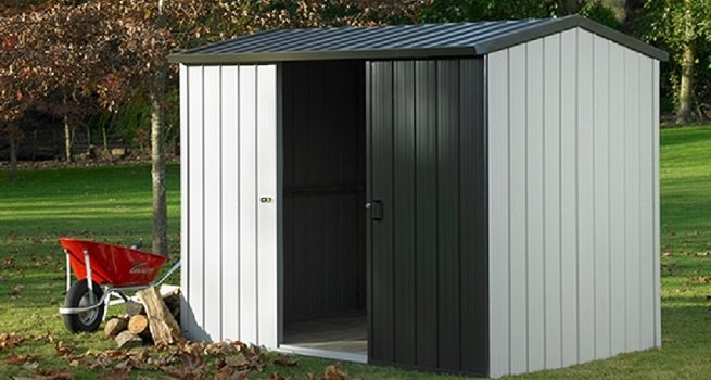 Portable Metal Shed With-Sliding-Door