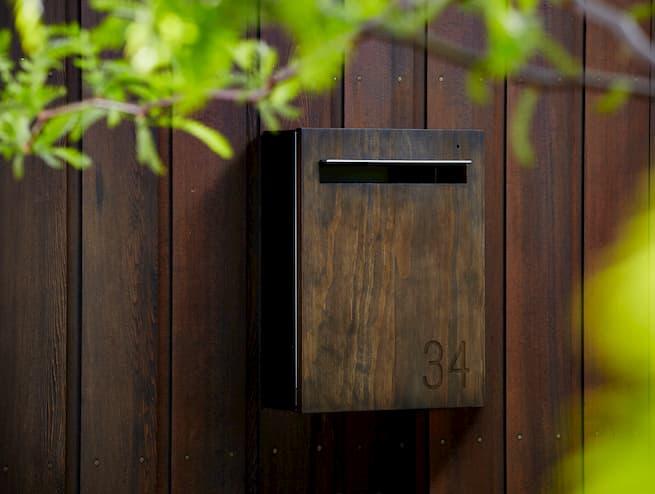 wall mount letterbox-accoya wood