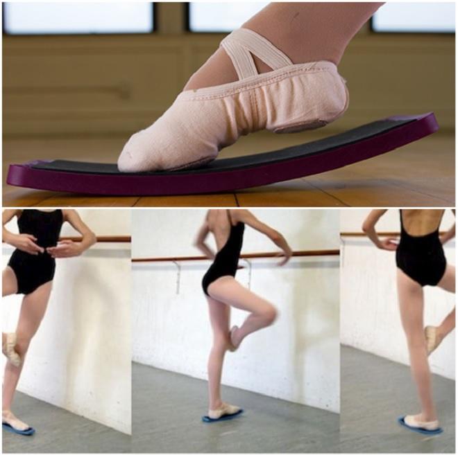 ballerina-exercising-on-spin-board