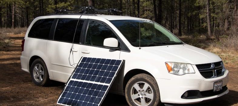 solar panels near vehicle
