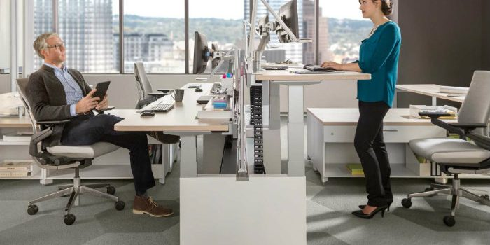 brave new office stand up adjustable workstation
