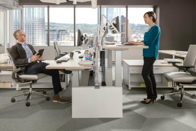 brave new office stand up adjustable workstation