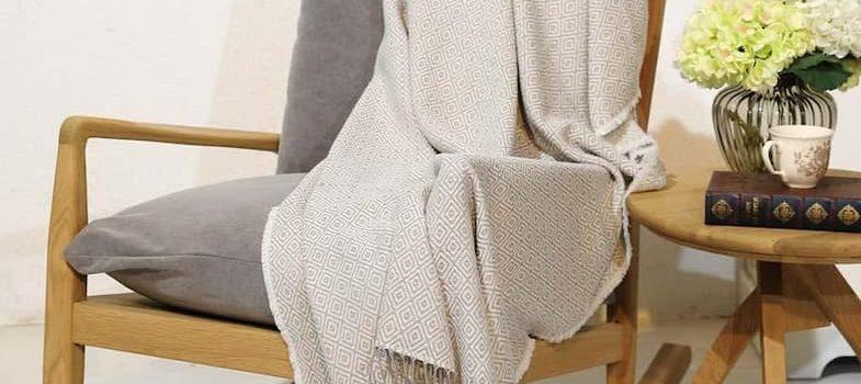 throw blanket on armchair