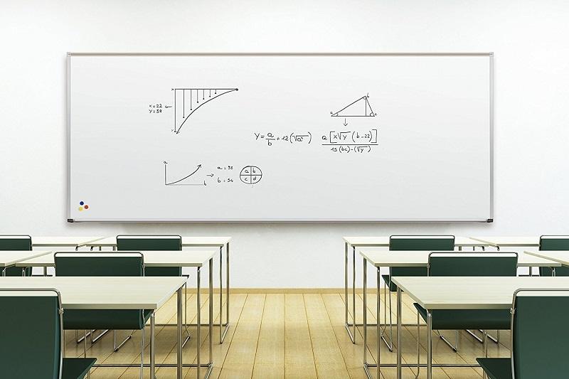 White board in classroom