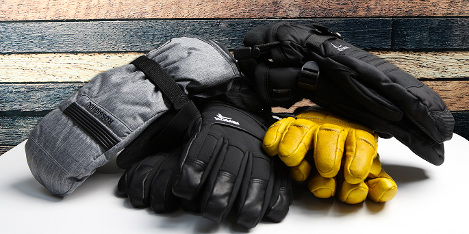 Different types of gloves and mittens