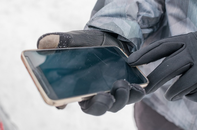 Touch-screen compatible gloves