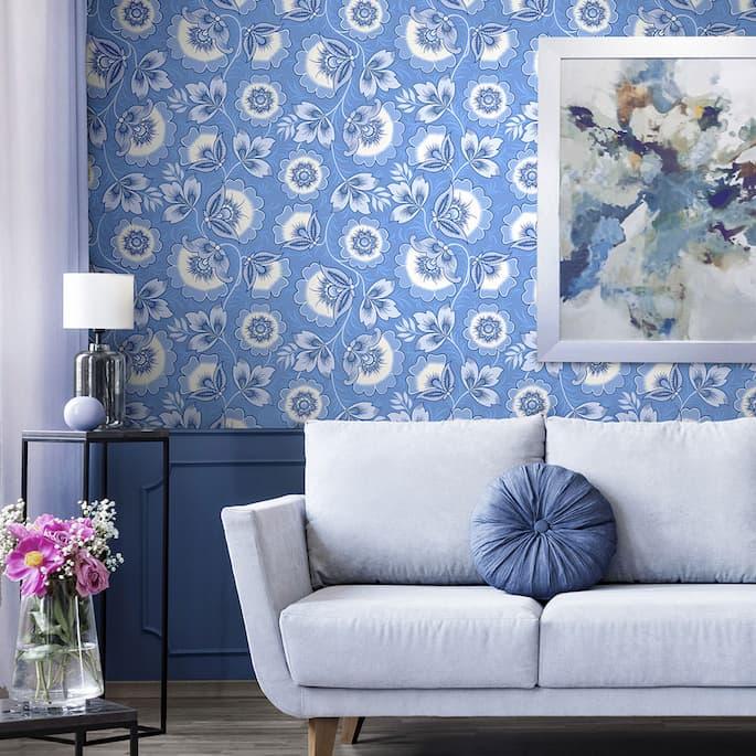 Blue-wallpaper-interior